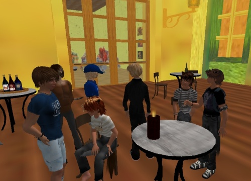 Sacha, Pais, Robin, and our friends at the Starry Night sim